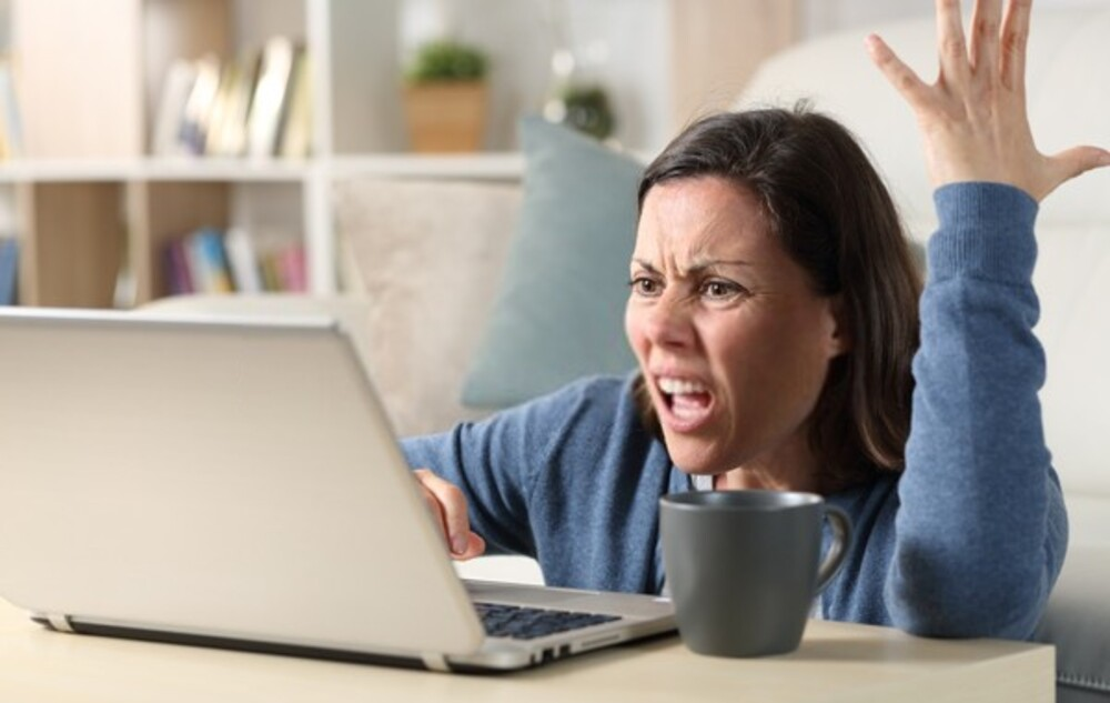 Angry with Website